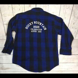 Tops - Buffalo plaid men's large flannel
